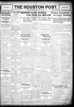 Primary view of object titled 'The Houston Post. (Houston, Tex.), Vol. 31, No. 24, Ed. 1 Friday, April 28, 1916'.