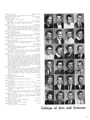 The right half of the page is 6 rows of 4 black and white portraits of people. On the left side of the page is their names acknowledgeing them.