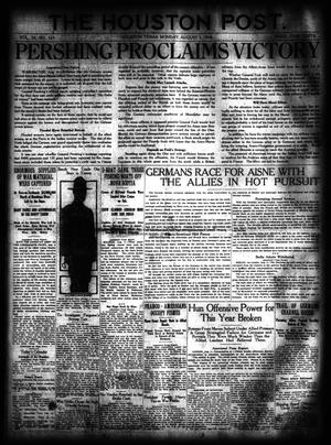Primary view of object titled 'The Houston Post. (Houston, Tex.), Vol. 34, No. 123, Ed. 1 Monday, August 5, 1918'.