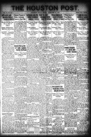 Primary view of object titled 'The Houston Post. (Houston, Tex.), Vol. 36, No. 321, Ed. 1 Friday, February 18, 1921'.