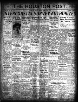 Primary view of object titled 'The Houston Post. (Houston, Tex.), Vol. 38, No. 353, Ed. 1 Friday, March 23, 1923'.