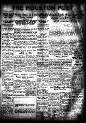 Primary view of object titled 'The Houston Post. (Houston, Tex.), Vol. 34, No. 110, Ed. 1 Tuesday, July 23, 1918'.