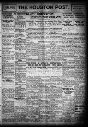 Primary view of object titled 'The Houston Post. (Houston, Tex.), Vol. 31, No. 11, Ed. 1 Saturday, April 15, 1916'.