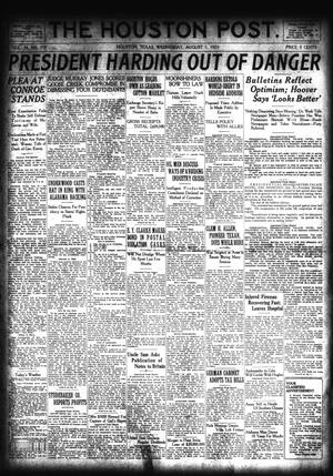 Primary view of object titled 'The Houston Post. (Houston, Tex.), Vol. 39, No. 119, Ed. 1 Wednesday, August 1, 1923'.