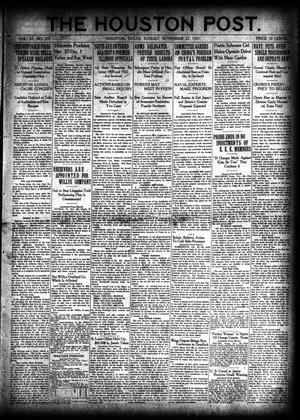 Primary view of object titled 'The Houston Post. (Houston, Tex.), Vol. 37, No. 237, Ed. 1 Sunday, November 27, 1921'.