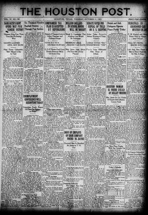 Primary view of object titled 'The Houston Post. (Houston, Tex.), Vol. 37, No. 190, Ed. 1 Tuesday, October 11, 1921'.