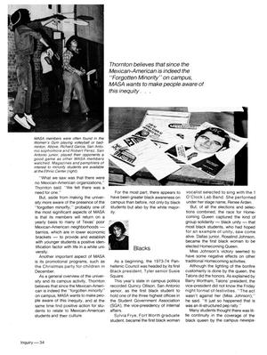 At the top left of the page is a photo of 2 men. another one is lower on the right. The rest of the page is paragraphs of a text.