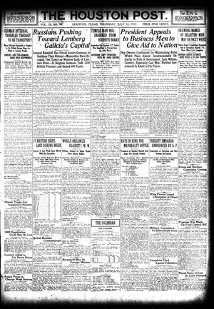 Primary view of object titled 'The Houston Post. (Houston, Tex.), Vol. 33, No. 99, Ed. 1 Thursday, July 12, 1917'.