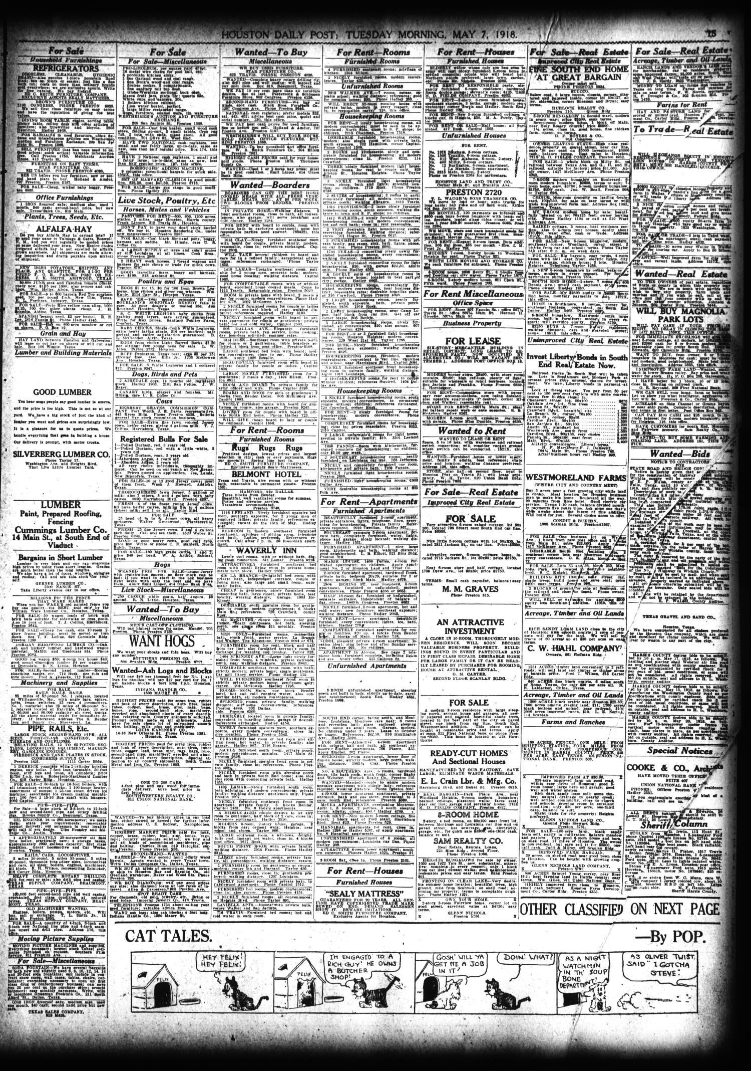 The Houston Post Houston Tex Vol 34 No 33 Ed 1 Tuesday