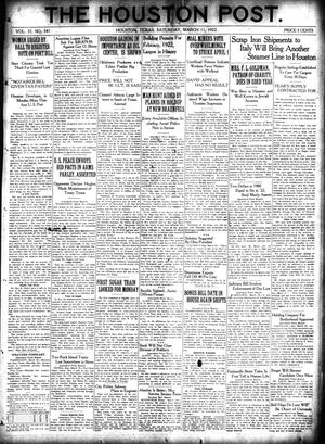 Primary view of object titled 'The Houston Post. (Houston, Tex.), Vol. 37, No. 341, Ed. 1 Saturday, March 11, 1922'.