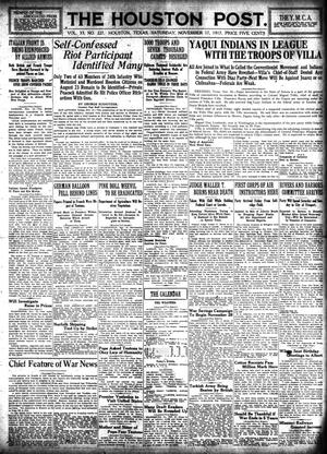 Primary view of object titled 'The Houston Post. (Houston, Tex.), Vol. 33, No. 227, Ed. 1 Saturday, November 17, 1917'.