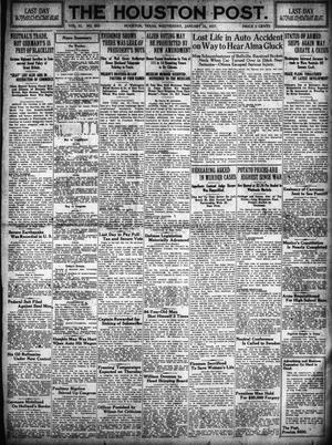 Primary view of object titled 'The Houston Post. (Houston, Tex.), Vol. 31, No. 302, Ed. 1 Wednesday, January 31, 1917'.