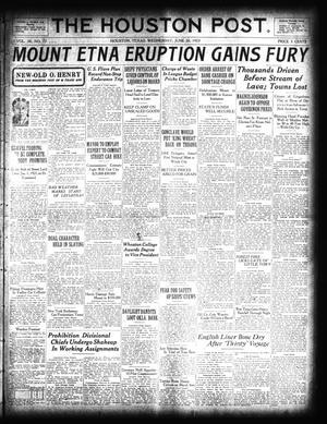 Primary view of The Houston Post. (Houston, Tex.), Vol. 38, No. 77, Ed. 1 Wednesday, June 20, 1923
