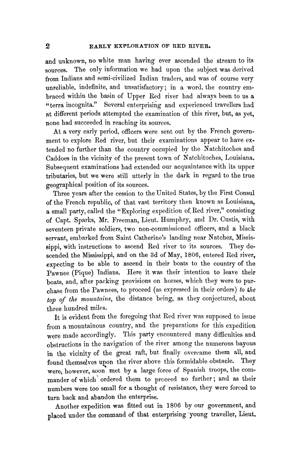 Exploration of the Red River of Louisiana, in the year 1852 / by Randolph B. Marcy ; assisted by George B. McClellan.                                                                                                      [Sequence #]: 18 of 368