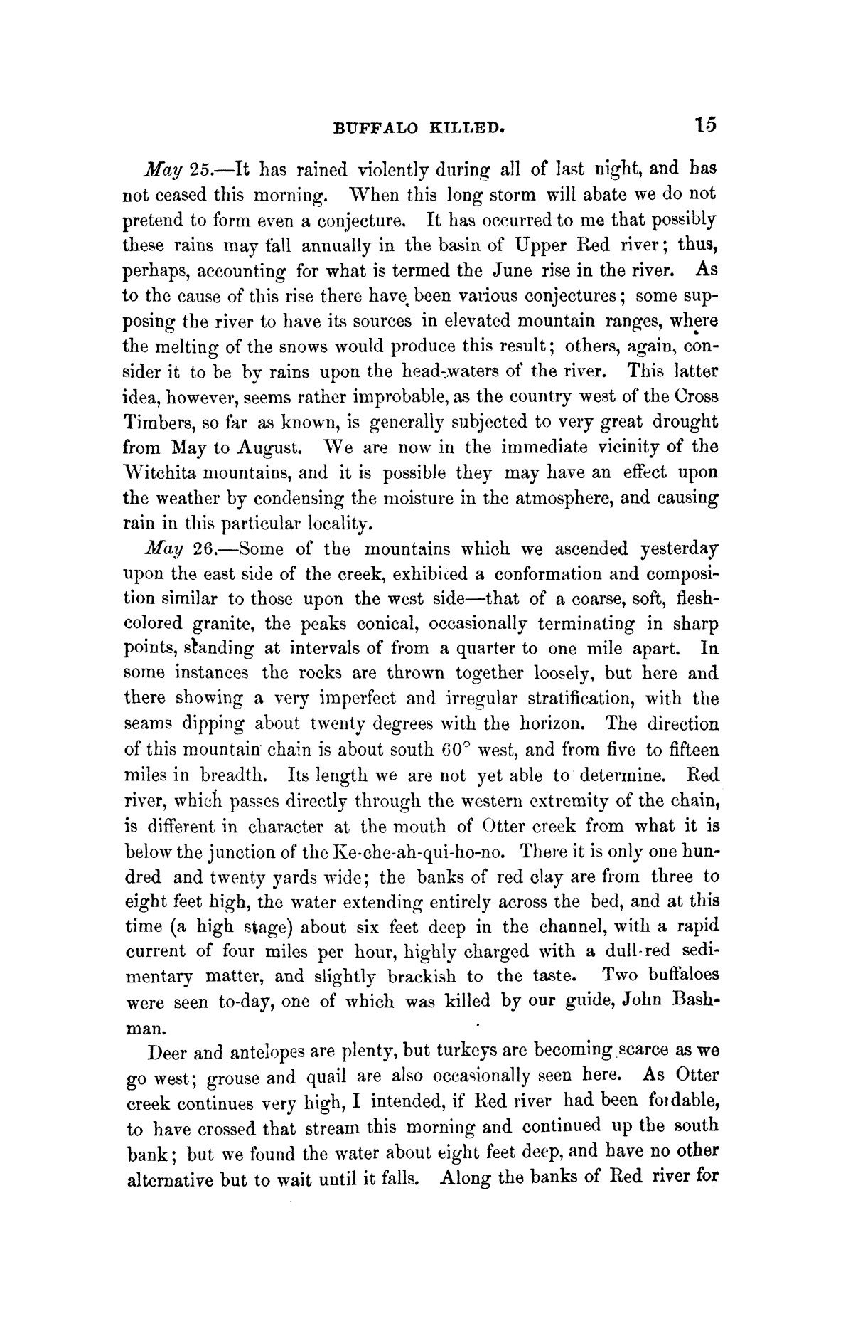 Exploration of the Red River of Louisiana, in the year 1852 / by Randolph B. Marcy ; assisted by George B. McClellan.                                                                                                      [Sequence #]: 31 of 368