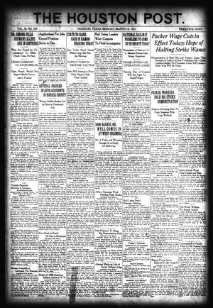 Primary view of object titled 'The Houston Post. (Houston, Tex.), Vol. 36, No. 345, Ed. 1 Monday, March 14, 1921'.
