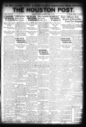 Primary view of object titled 'The Houston Post. (Houston, Tex.), Vol. 37, No. 76, Ed. 1 Sunday, June 19, 1921'.