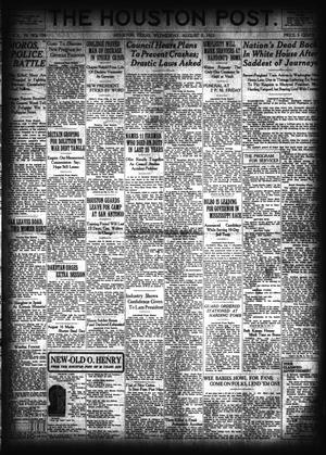 Primary view of object titled 'The Houston Post. (Houston, Tex.), Vol. 39, No. 126, Ed. 1 Wednesday, August 8, 1923'.