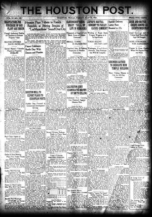 Primary view of object titled 'The Houston Post. (Houston, Tex.), Vol. 37, No. 102, Ed. 1 Friday, July 15, 1921'.