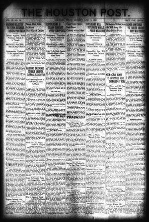 Primary view of object titled 'The Houston Post. (Houston, Tex.), Vol. 37, No. 70, Ed. 1 Monday, June 13, 1921'.