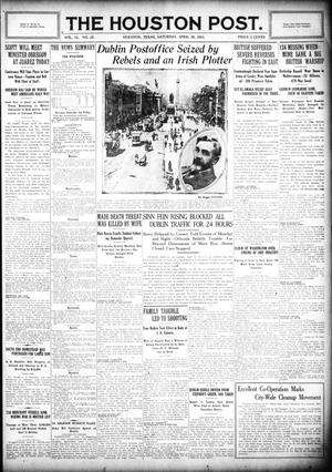 Primary view of object titled 'The Houston Post. (Houston, Tex.), Vol. 31, No. 25, Ed. 1 Saturday, April 29, 1916'.