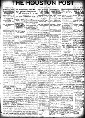 Primary view of object titled 'The Houston Post. (Houston, Tex.), Vol. 37, No. 116, Ed. 1 Friday, July 29, 1921'.