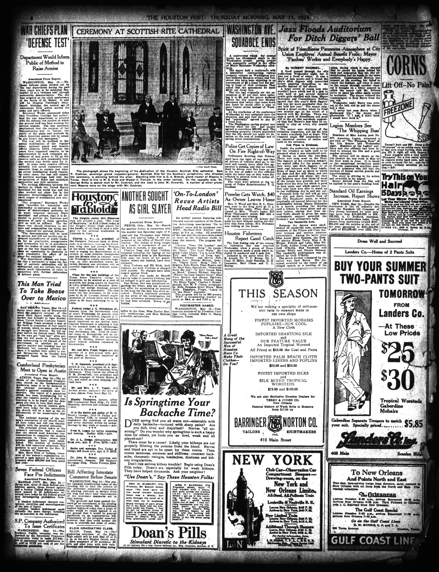 The Houston Post. (Houston, Tex.), Vol. 40, No. 41, Ed. 1 Thursday, May 15, 1924                                                                                                      [Sequence #]: 4 of 16
