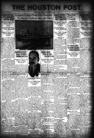 Primary view of object titled 'The Houston Post. (Houston, Tex.), Vol. 37, No. 35, Ed. 1 Monday, May 9, 1921'.
