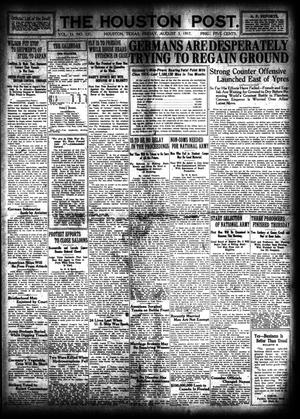 Primary view of object titled 'The Houston Post. (Houston, Tex.), Vol. 33, No. 121, Ed. 1 Friday, August 3, 1917'.