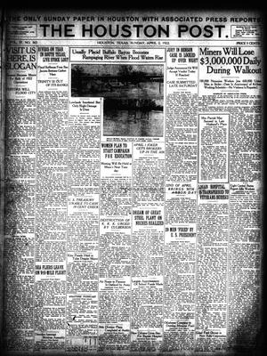 Primary view of object titled 'The Houston Post. (Houston, Tex.), Vol. 37, No. 363, Ed. 1 Sunday, April 2, 1922'.