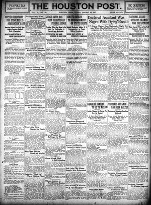Primary view of object titled 'The Houston Post. (Houston, Tex.), Vol. 31, No. 290, Ed. 1 Friday, January 19, 1917'.