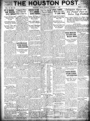 Primary view of object titled 'The Houston Post. (Houston, Tex.), Vol. 37, No. 272, Ed. 1 Sunday, January 1, 1922'.