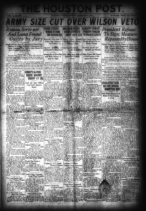 Primary view of object titled 'The Houston Post. (Houston, Tex.), Vol. 36, No. 309, Ed. 1 Sunday, February 6, 1921'.