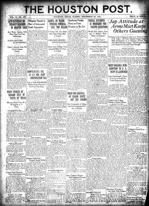 Primary view of The Houston Post. (Houston, Tex.), Vol. 37, No. 230, Ed. 1 Sunday, November 20, 1921