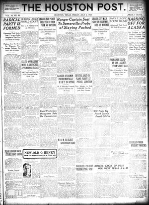 Primary view of object titled 'The Houston Post. (Houston, Tex.), Vol. 39, No. 93, Ed. 1 Friday, July 6, 1923'.