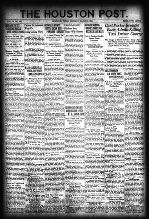 Primary view of object titled 'The Houston Post. (Houston, Tex.), Vol. 36, No. 338, Ed. 1 Monday, March 7, 1921'.