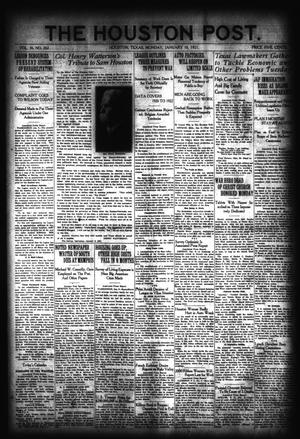 Primary view of object titled 'The Houston Post. (Houston, Tex.), Vol. 36, No. 282, Ed. 1 Monday, January 10, 1921'.