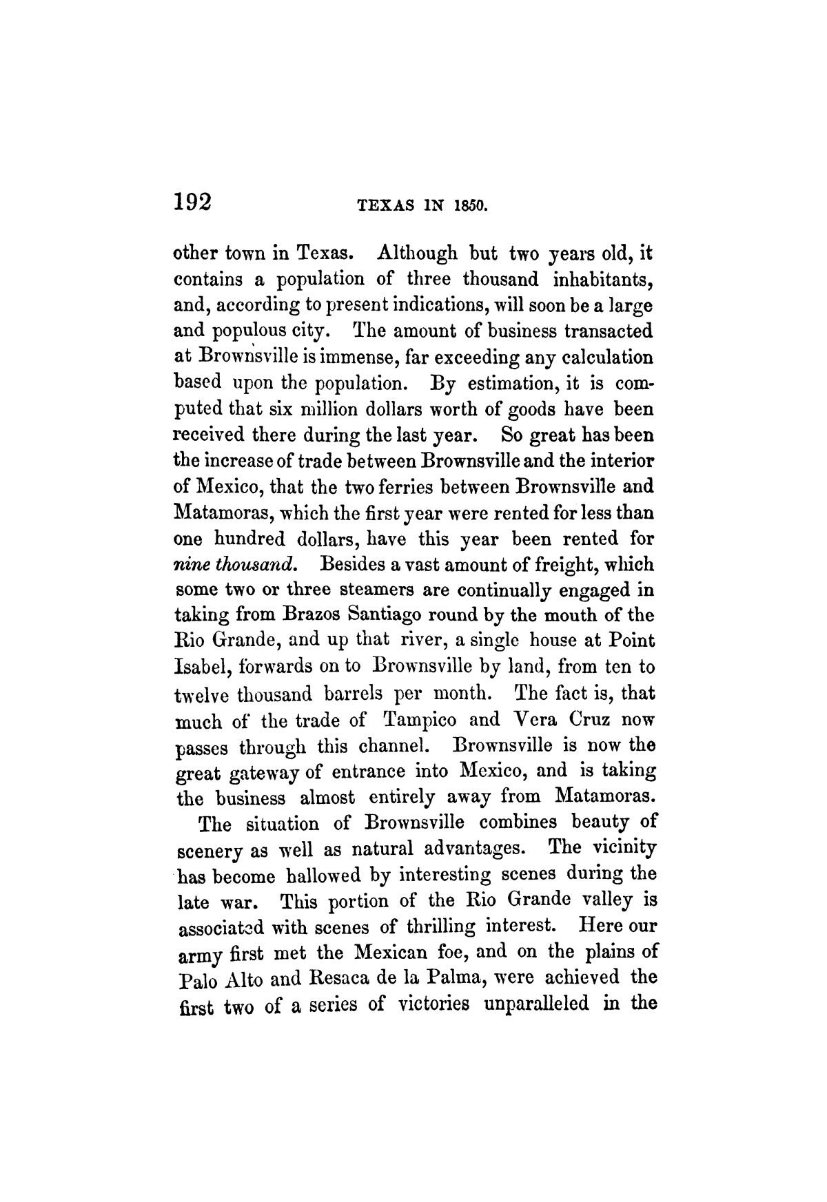 Texas in 1850. By Melinda Rankin.                                                                                                      [Sequence #]: 189 of 196