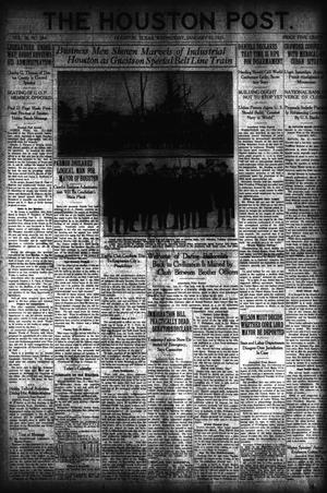 Primary view of object titled 'The Houston Post. (Houston, Tex.), Vol. 36, No. 284, Ed. 1 Wednesday, January 12, 1921'.