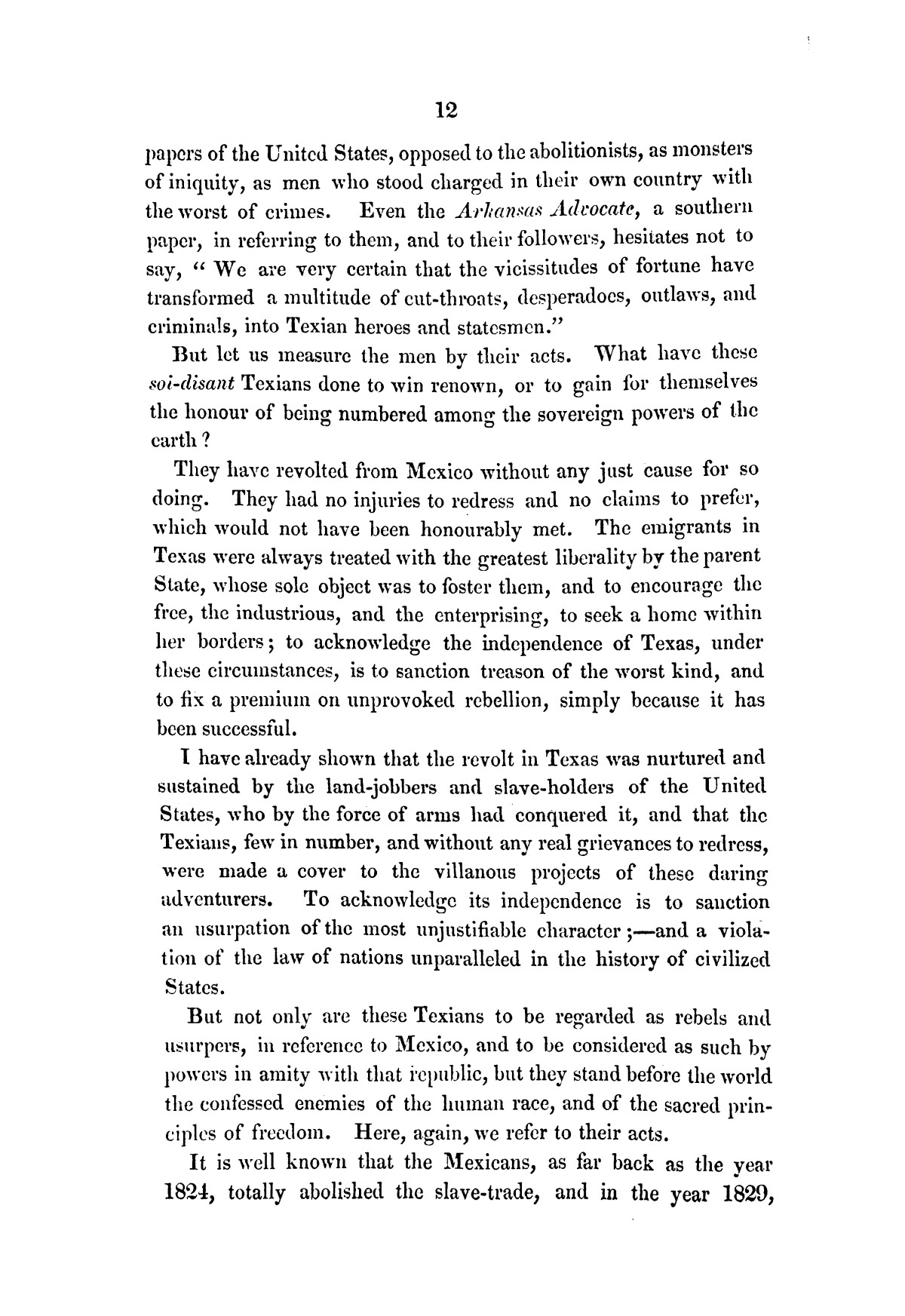 Texas, its claims to be recognised as an independent power by Great Britain : examined in a series of letters                                                                                                      [Sequence #]: 14 of 58