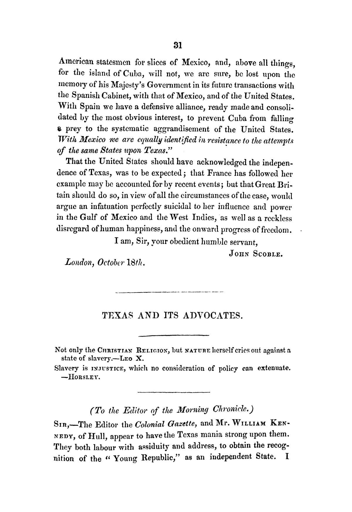 Texas, its claims to be recognised as an independent power by Great Britain : examined in a series of letters                                                                                                      [Sequence #]: 33 of 58