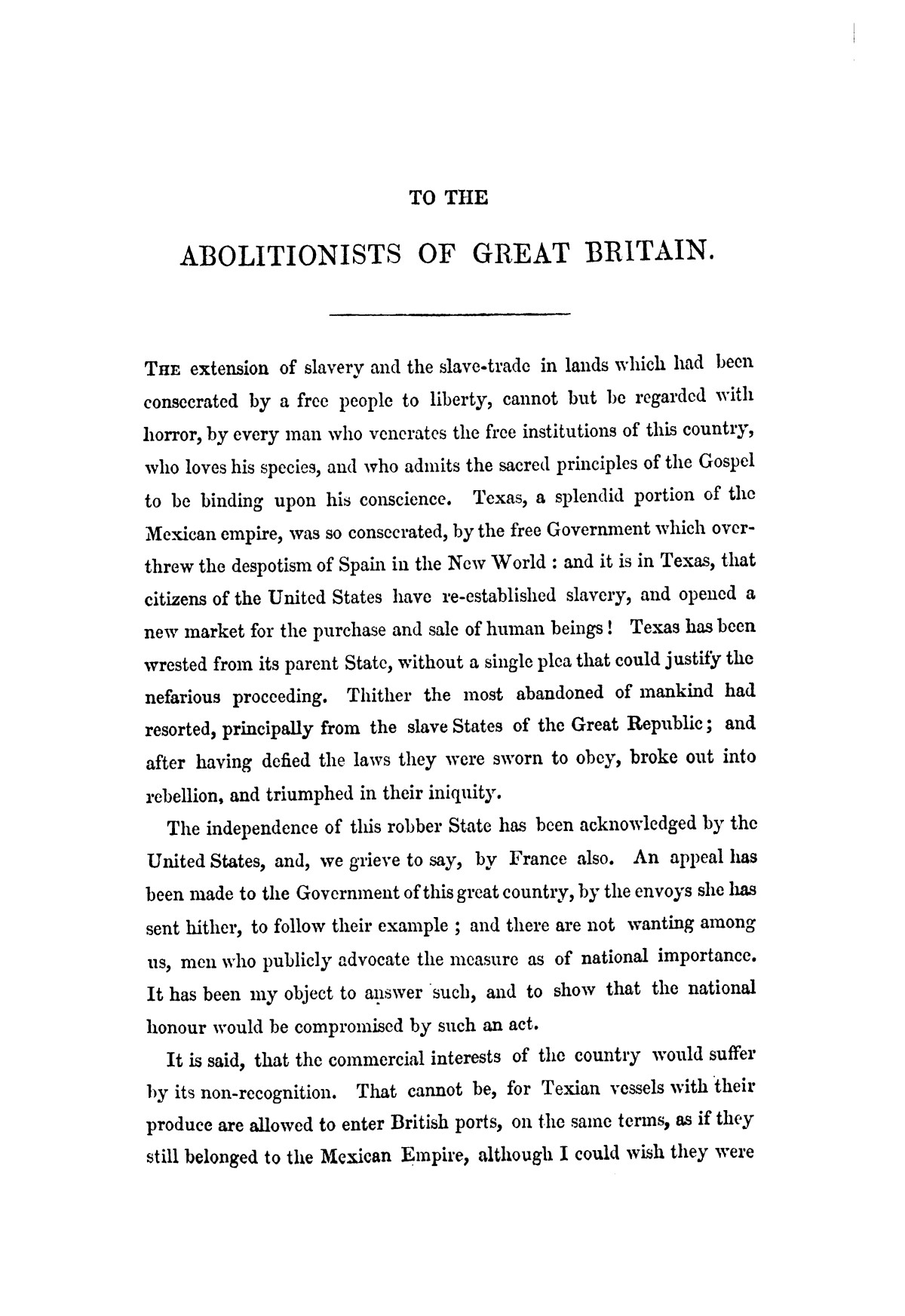 Texas, its claims to be recognised as an independent power by Great Britain : examined in a series of letters                                                                                                      [Sequence #]: 5 of 58