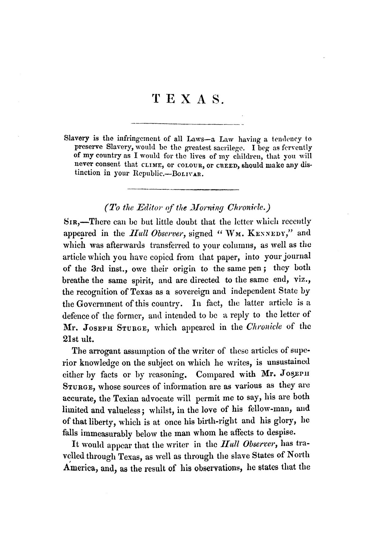 Texas, its claims to be recognised as an independent power by Great Britain : examined in a series of letters                                                                                                      [Sequence #]: 9 of 58