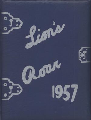 Primary view of object titled 'Lion's Roar, Yearbook of the North Texas Laboratory School, 1957'.