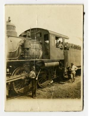 Primary view of object titled '[Locomotive in Abilene]'.
