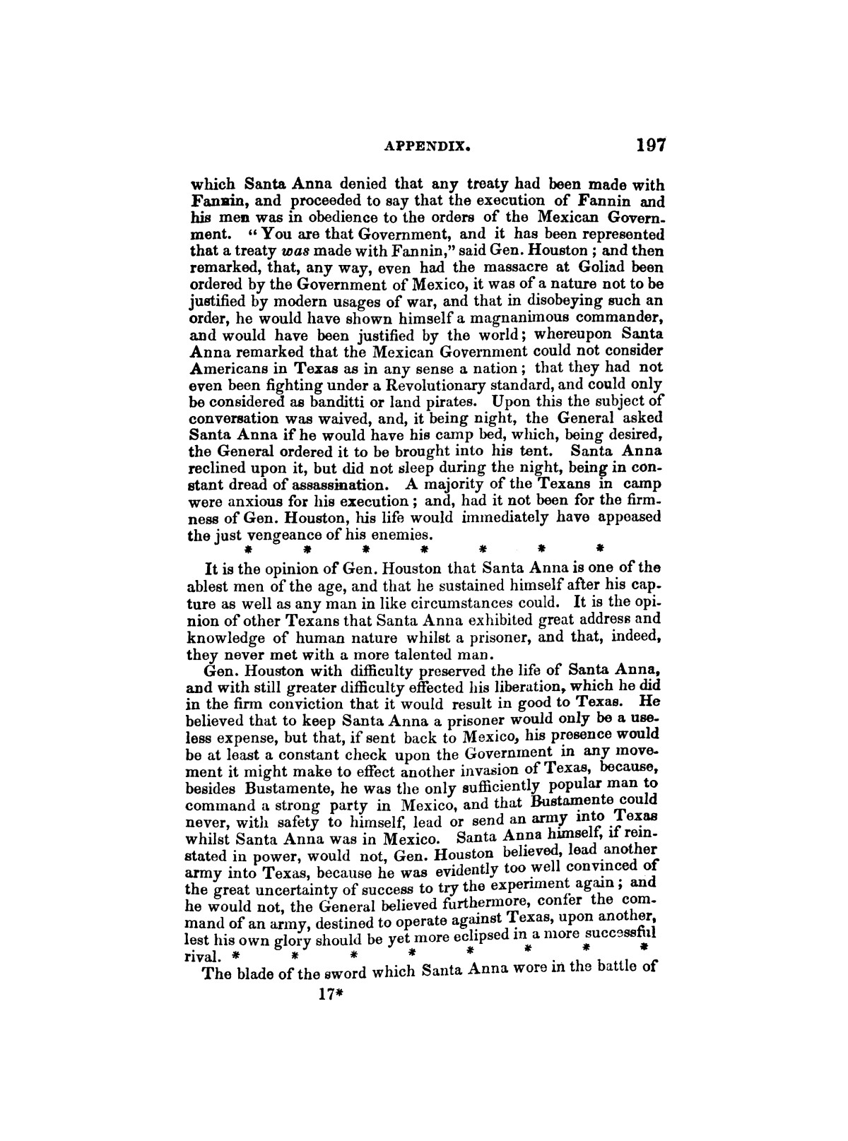 History of the revolution in Texas, particularly of the war of 1835 & '36; together with the latest geographical, topographical, and statistical accounts of the country, from the most authentic sources. Also, an appendix. By the Rev. C. Newell.                                                                                                      [Sequence #]: 209 of 227