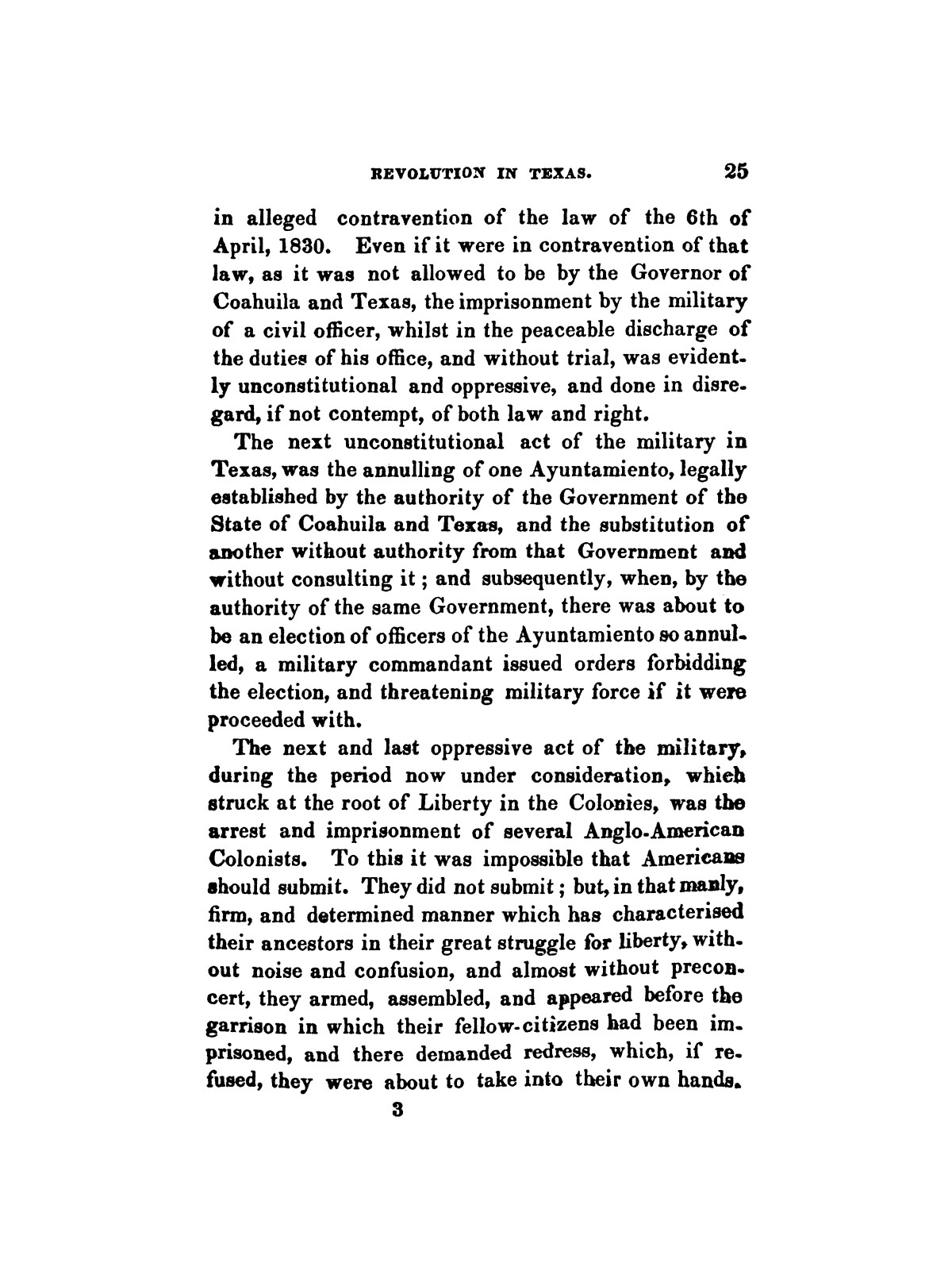 History of the revolution in Texas, particularly of the war of 1835 & '36; together with the latest geographical, topographical, and statistical accounts of the country, from the most authentic sources. Also, an appendix. By the Rev. C. Newell.                                                                                                      [Sequence #]: 37 of 227