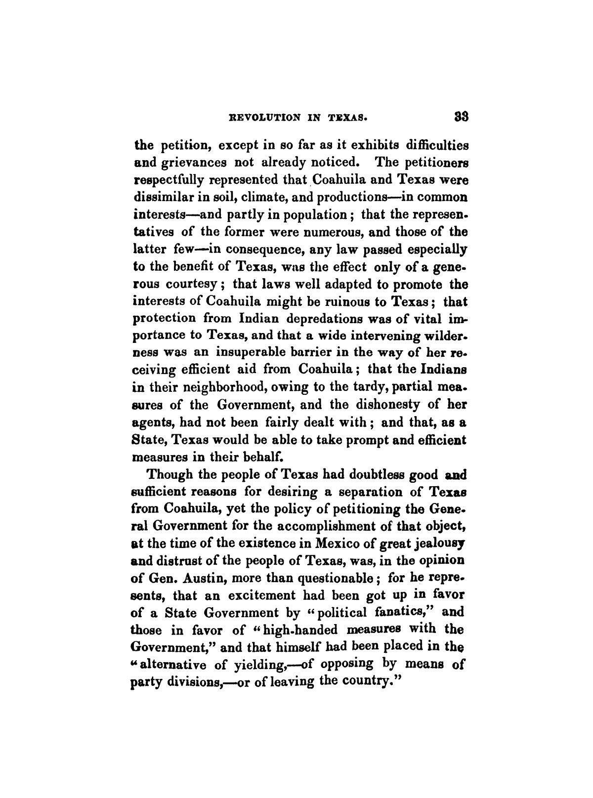History of the revolution in Texas, particularly of the war of 1835 & '36; together with the latest geographical, topographical, and statistical accounts of the country, from the most authentic sources. Also, an appendix. By the Rev. C. Newell.                                                                                                      [Sequence #]: 45 of 227