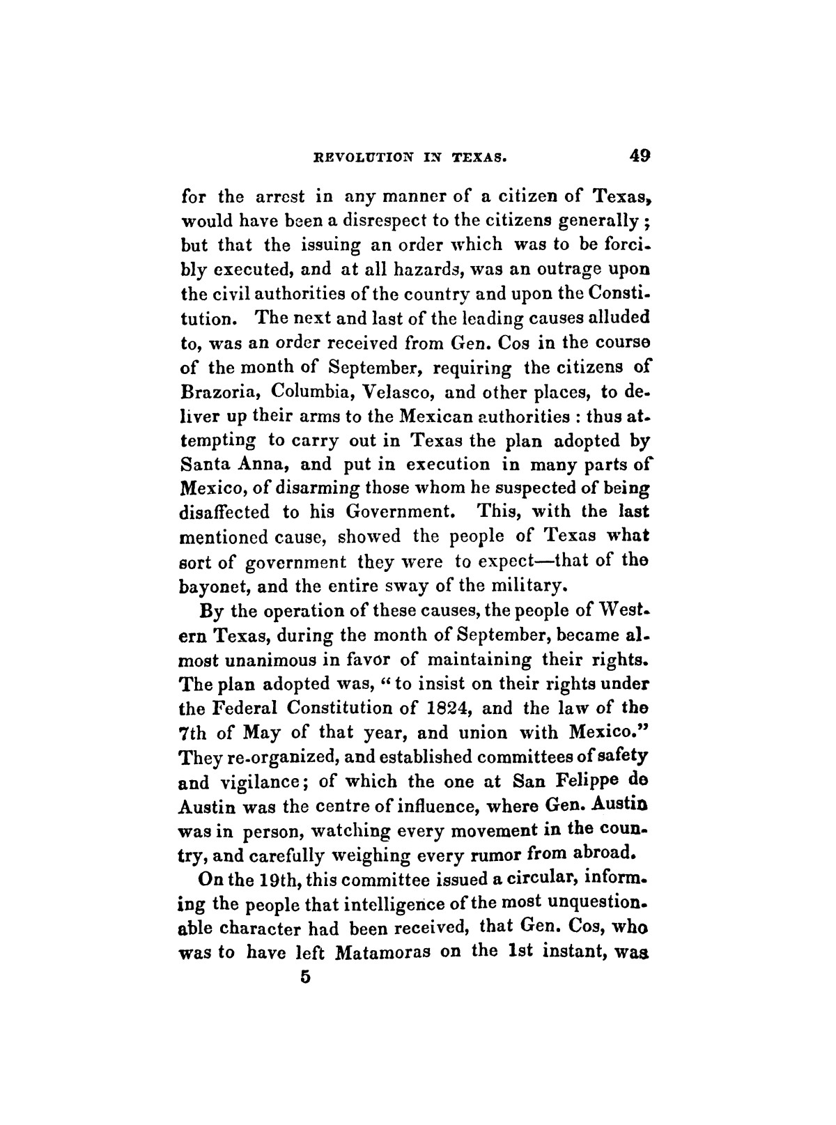 History of the revolution in Texas, particularly of the war of 1835 & '36; together with the latest geographical, topographical, and statistical accounts of the country, from the most authentic sources. Also, an appendix. By the Rev. C. Newell.                                                                                                      [Sequence #]: 61 of 227