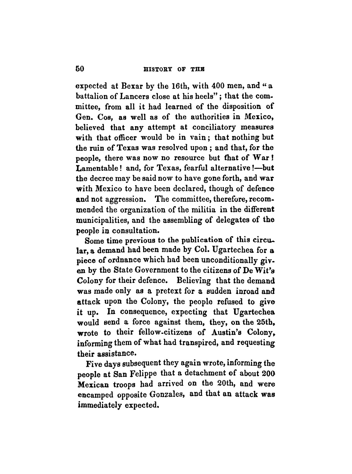 History of the revolution in Texas, particularly of the war of 1835 & '36; together with the latest geographical, topographical, and statistical accounts of the country, from the most authentic sources. Also, an appendix. By the Rev. C. Newell.                                                                                                      [Sequence #]: 62 of 227